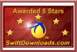 5 stars on SwiftDownloads.com